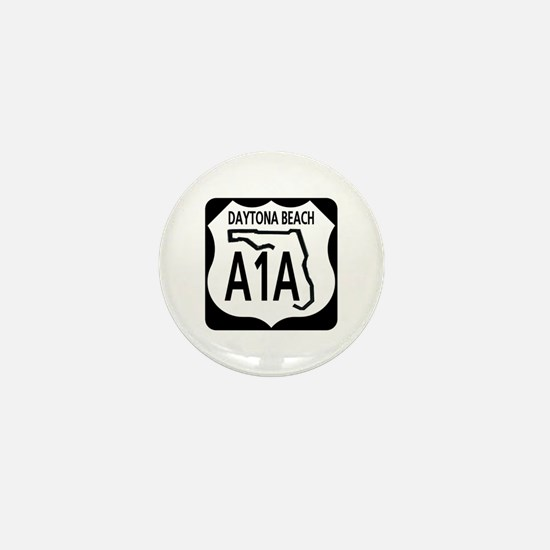 A1A Daytona Beach Mini Button