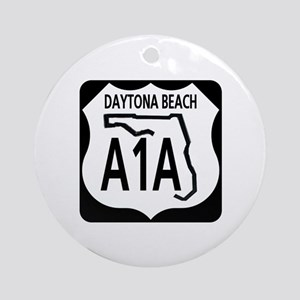 A1A Daytona Beach Ornament (Round)