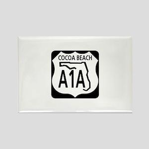 A1A Cocoa Beach Rectangle Magnet
