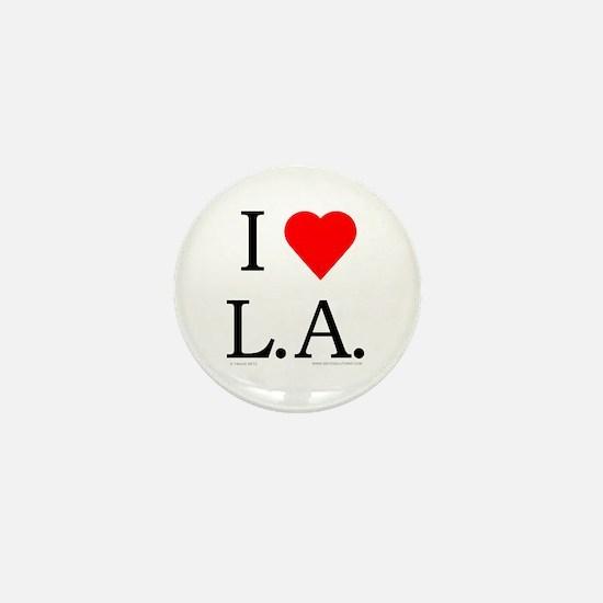 I Love LA Mini Button