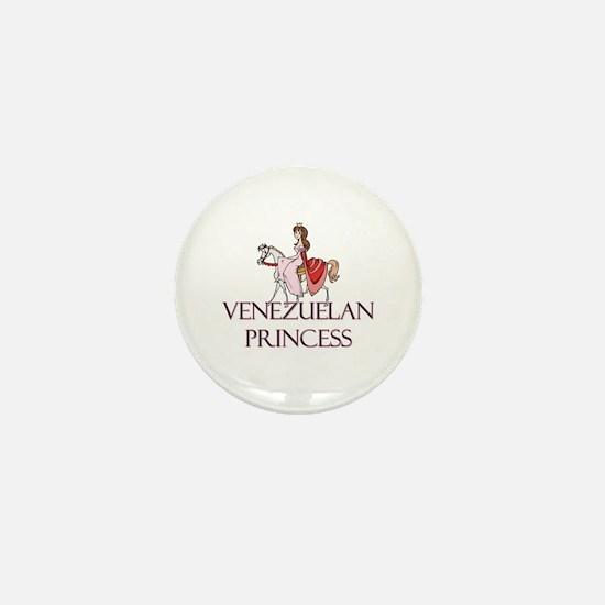 Venezuelan Princess Mini Button