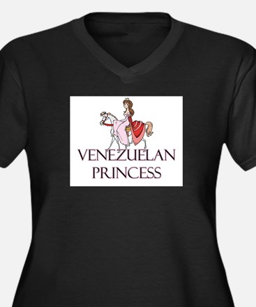 Venezuelan Princess Women's Plus Size V-Neck Dark