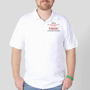 It's a Russian Tsvetnaya Bolonka th Golf Shirt