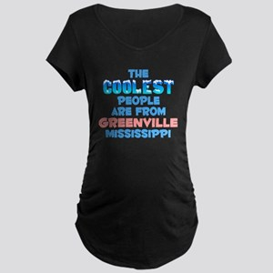 Coolest: Greenville, MS Maternity Dark T-Shirt