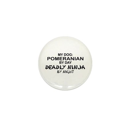 Pomeranian Deadly Ninja Mini Button