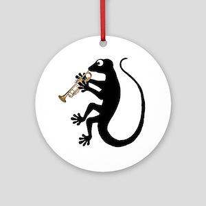 Gecko Trumpet Ornament (Round)