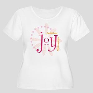 joy-white Plus Size T-Shirt