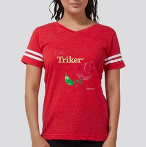 Lady Triker Watercolor Rose T-Shirt