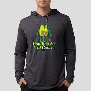 Emoji Avocado Had Me at Guac Mens Hooded Shirt