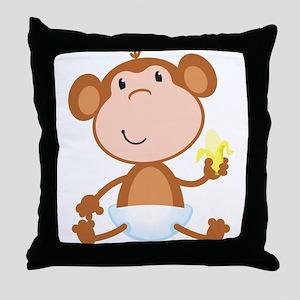 Baby Monkey Throw Pillow