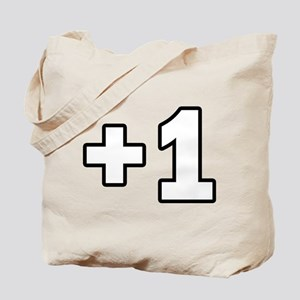 +1 Plus 1 Tote Bag