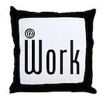 At Work @ Work Throw Pillow