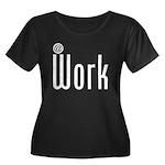 At Work @ Work Women's Plus Size Scoop Neck Dark T