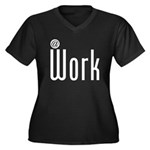 At Work @ Work Women's Plus Size V-Neck Dark T-Shi