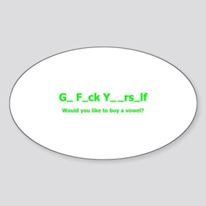 Buy a vowel Oval Sticker