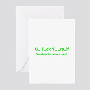 Buy a vowel Greeting Cards (Pk of 10)