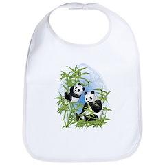 Panda Bears Bib
