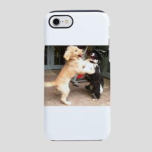 dogs playing Nala golden ret iPhone 8/7 Tough Case