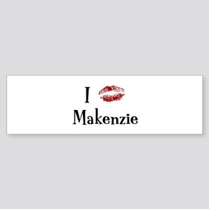 I Kissed Makenzie Bumper Sticker