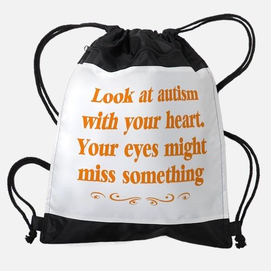 Autism teacher Drawstring Bag