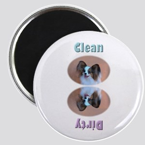 Sable Papillon Head Dishwasher Magnet