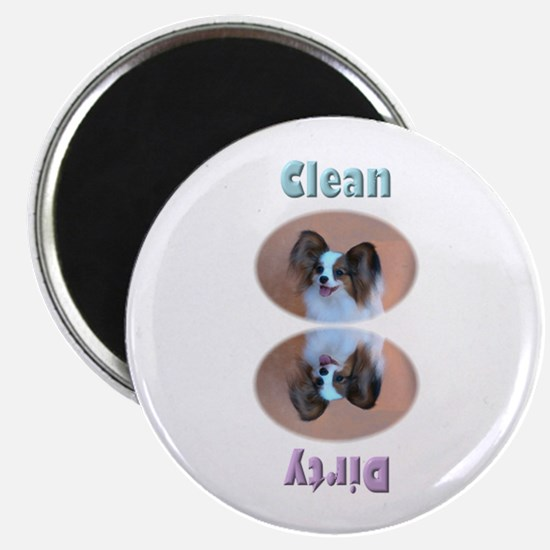 Sable Papillon Head Dishwasher Magnet