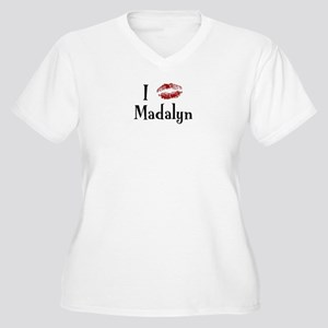I Kissed Madalyn Women's Plus Size V-Neck T-Shirt