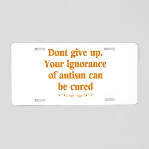 Autism teacher Aluminum License Plate