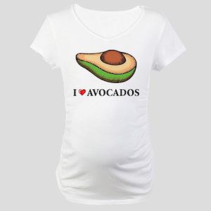 I Love Avocado Maternity T-Shirt