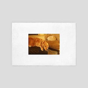 golden retriever relaxing nala on otto 4' x 6' Rug