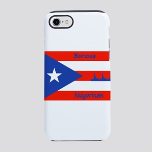 Puerto Rican Flag NYC Statue iPhone 8/7 Tough Case