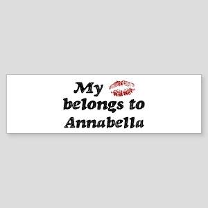 Kiss Belongs to Annabella Bumper Sticker
