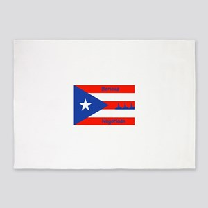 Puerto Rican Flag NYC Statue of Lib 5'x7'Area Rug