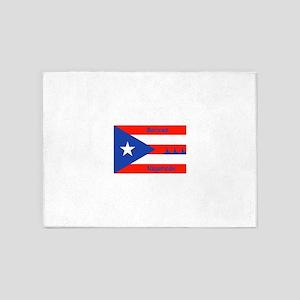 Puerto Rican Flag NYC Statue of Lib 5'x7'Area Rug