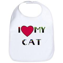 I LOVE MY CAT Bib