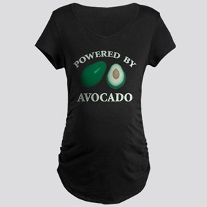 Powered By Avocado Maternity Dark T-Shirt