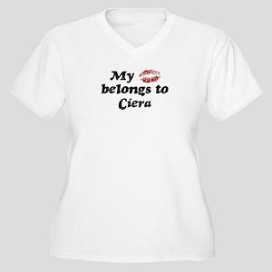 Kiss Belongs to Ciera Women's Plus Size V-Neck T-S