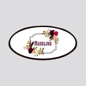 Personalized Floral Wreath Monogram Patch