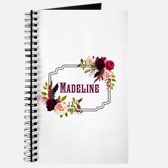 Personalized Floral Wreath Monogram Journal