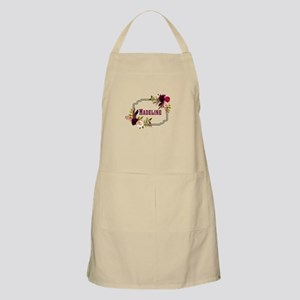 Personalized Floral Wreath Monogram Light Apron