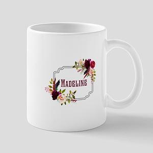 Personalized Floral Wreath Monogram Mugs