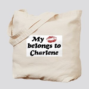 Kiss Belongs to Charlene Tote Bag