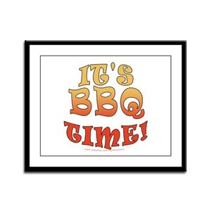 It's BBQ Time Framed Panel Print