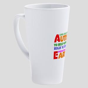 Autism 17 oz Latte Mug