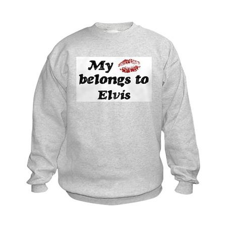 Kiss Belongs to Elvis Kids Sweatshirt
