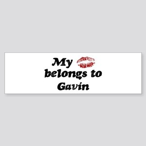 Kiss Belongs to Gavin Bumper Sticker
