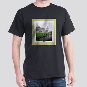 Leaning Tower of Piza Dark T-Shirt