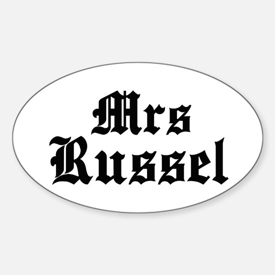Mrs Russel Oval Decal