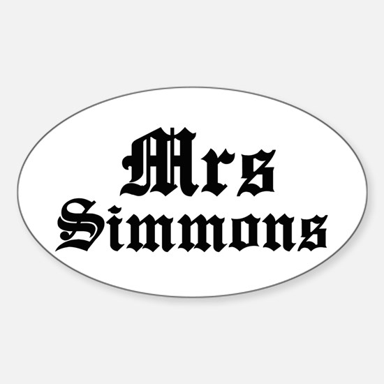Mrs Simmons Oval Decal