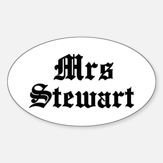 Mrs Stewart Oval Decal